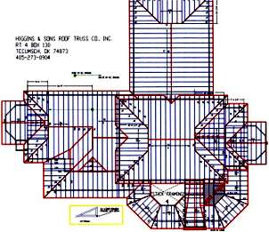 Truss layout for Truss layout plan